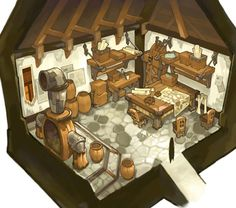 View an image titled 'Mechanical House Interior Art' in our Lime Odyssey: The Chronicles of Orta art gallery featuring official character designs, concept art, and promo pictures. Bg Design, Game Design, 8 Bits, Isometric Art, Fantasy House, 3d Home, Game Concept Art, Interior Concept, Environment Concept Art
