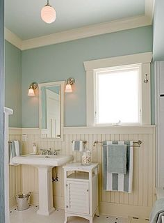 When your budget's not ready for a remodel, set your sights on smaller DIYs you can tackle yourself. Most Popular Small Bathroom Remodel Ideas on a Budget in 2018 Coastal Bathrooms, Beach Bathrooms, Small Bathroom, Downstairs Bathroom, Cream Bathroom, Seafoam Bathroom, Seaside Bathroom, White Bathroom, Small Cottage Bathrooms