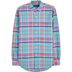 Polo Ralph Lauren Checked cotton Oxford shirt ($110) ❤ liked on Polyvore featuring men's fashion, men's clothing, men's shirts, men's casual shirts, mens oxford shirts, mens checkered shirts, mens embroidered shirts, polo ralph lauren mens shirts and mens cotton oxford shirts