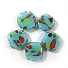 Lampwork beads  Handmade lampwork bead glass focal by gaialai