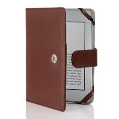 i-BLASON Premium Brown Leather 5 Colors Available for Kindle Touch Leather Cover Amazon Kindle Touch 3G Wifi Case by i-BLASON. $14.99