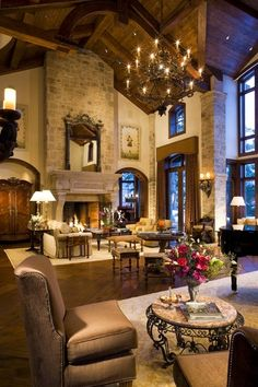 Love the ceiling and fireplace.Much less 'fussy' - formal dining room/ball room