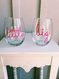 Big Little Stemless Wine Glasses. In note to seller make sure to comment: 1…