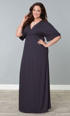 Check out the deal on Party Patio Maxi Dress at Kiyonna Clothing