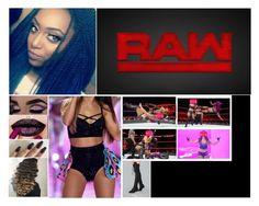 """🦄miamorae🦄 Monday night raw"" by yeahitskiera ❤ liked on Polyvore featuring WWE"
