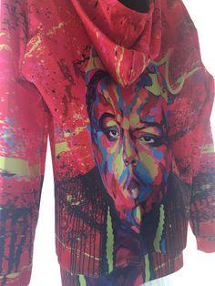 814cd66ff41b Biggie Smalls Notorious B.I.G. 3D Print Red Sweatshirt