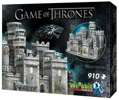 Wrebbit Game of Thrones: Winterfell Puzzle Pieces) Games To Buy, All Games, Gaming Merch, House Stark, Game Of Thrones Fans, 3d Puzzles, Tv Series, Castle, Action