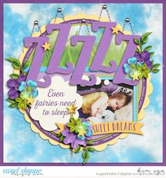 Digital Scrapbook Layout using Trio Pack 36 - Goodnight Love templates by Cindy Schneider; and #believeinmagic: Pixie Dust collection by Studio Flergs and Amber Shaw (found at Sweet Shoppe Designs)