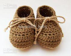 Crochet Baby Boy Shoes Infant Boots 0-12M Cotton Lacing Custom, $57.81 | DHgate.com