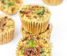 Hartige muffins met broccoli, kaas en zongedroogde tomaat