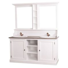 Doppelwaschtisch Provence Mit Spiegelaufsatz Im Französichen Landhausstil,  Badezimmer Einrichten, Wohnen, Weiße Landhausmöbel