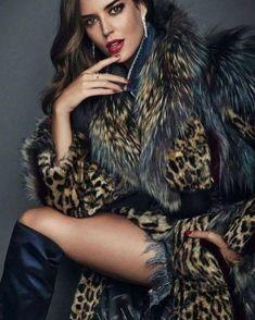 Leather and fur attire. Fur Fashion, Fashion Photo, Love Fashion, Fashion Beauty, Winter Fashion, Fashion Looks, Fashion Outfits, Womens Fashion, Fox Fur Coat