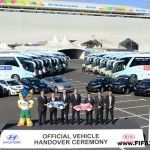 9 Days before the Opening Game Match of 2014 FIFA World Cup Brazil, FIFA and its Official Partner for the 2014 FIFA World Cup Hyundai/Kia staged a ceremony at the Arena de Sao Paulo where a dedicated transportation fleet of over one thousand vehicles was...