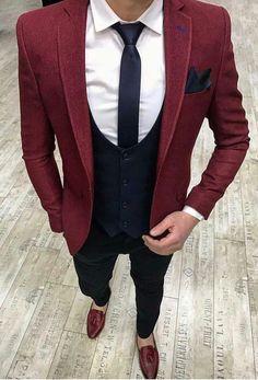 Suit Ideas For Men - Herren- und Damenmode - Kleidung Blazer Outfits Men, Mens Fashion Blazer, Suit Fashion, Party Fashion, Looks Adidas, Traje Casual, Trendy Suits, Designer Suits For Men, Look Man