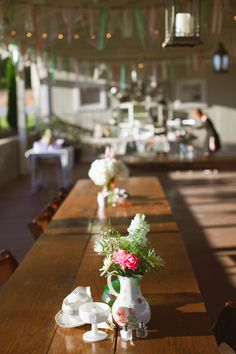 #CountryWedding ReceptionTable Inspiration >> http://www.greatamericancountry.com/living/lifestyles/sarah-darlings-rustic-bohemian-wedding-pictures?soc=pinterest