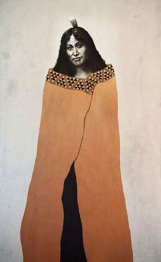 Hine-nui-te-po - Maori goddess painting with moko kauae by Sofia Minson Zealand Tattoo, Maori Designs, New Zealand Art, Jr Art, Maori Art, Mirror Art, Mirrors, Indigenous Art, Egyptian Art