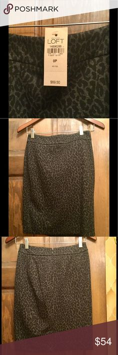 Loft Leopard Print sexy skirt new with tag 0P Loft Leopard Print Skirt new with tag 0P. See Matching blazer  in my other listing LOFT Skirts Midi