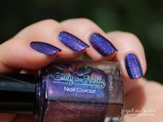 Nail polish Crestfallen Purple linear holographic by EmilydeMolly