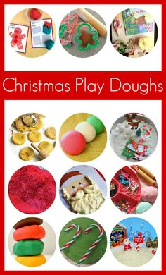 10+ Christmas Play Dough Recipes for Kids - great for working on hand strength and creativity!