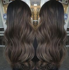Chocolate Ash Balayage #hair #balayage