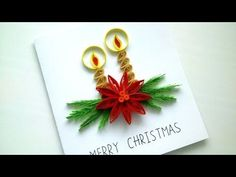 Paper Quilling : Happy Cristmas greeting card - YouTube