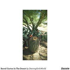 Barrel Cactus In The Desert Canvas Print