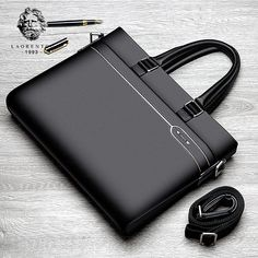 LAORENTOU Genuine Leather Business Handbags