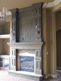 DIY Fireplace Faux Finish Redo using Modern Masters Iron products & Faux Effects Lusterstone.