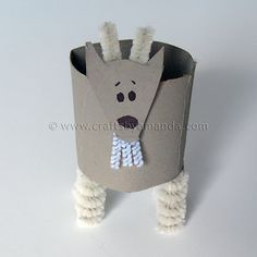 cardboard tube goat for chinese new year craft