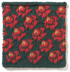 English Rose   <   Could still be fair isle if yellow is top-stitched    /   vk