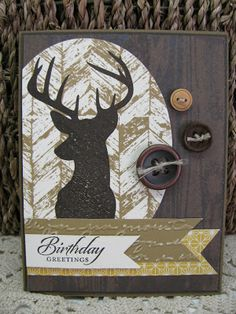 Giddy Stamper: Birthday Deer Mount ~ SSSC191