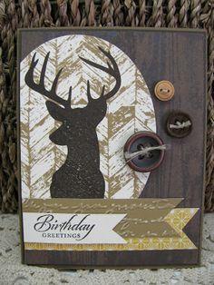 Giddy Stamper: Birthday Deer Mount ~ SSSC191
