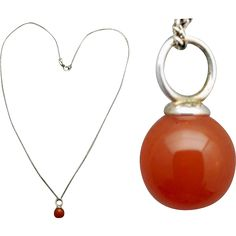 This luscious carnelian charm necklace is set in sterling silver with a fabulous sterling chain. Measurements: the chain is 20 inches long. The