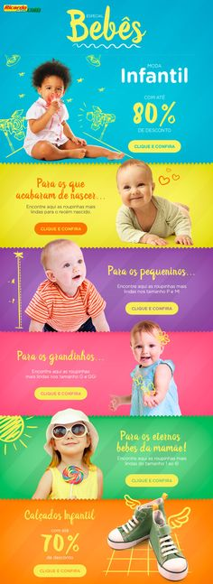 E-mail Marketing Bebês #email #webdesign #design #baby #bebes #best #kids #children #best #comercial #photoshop #minimalistdesign #유아 #어린이