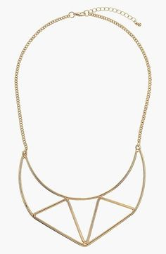 Topshop Half Moon Bib Necklace on shopstyle.com