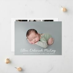 """Typography Custom Photo Collage Newborn Baby Birth Announcement is a very elegant card for the birth of your new baby. The front comes with a hero photo, the baby's name, and a birth stats template. The back has a 6 photo collage of square photos, a welcomed by and family names template you can customize. Size: 5"""" x 7"""" When you've got big news to share, we can help! Dimensions : 5"""" x 7"""" (portrait); 7"""" x 5"""" (landscape) High quality, full-color, full-bleed printing on both sides Baby Girl Birth Announcement, Birth Announcement Photos, Baby Birth, Baby Girl Newborn, Family Names, Baby Girl Photos, Square Photos, Big News, Custom Photo"""