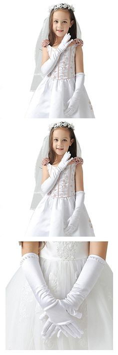 Tandi Favorite Girls Gorgeous Satin Fancy Stretch Dress Formal Pageant Party Gloves
