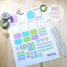 Vintage Glam Studio   Sugar Plum Planner Stickers - Free Printable Download