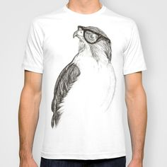 animalartonline:  Hawk with Poor Eyesight
