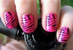 zebra nail designs glitter / nail zebra designs ` zebra toe nail designs ` zebra nail art designs ` nail designs zebra print ` zebra nail designs animal prints ` zebra nail designs glitter ` pink and black zebra nail designs ` zebra nail designs pink Zebra Nail Designs, Zebra Nail Art, Striped Nail Designs, Nail Designs Spring, Tiger Stripe Nails, Tiger Stripes, Glitter, Beauty Hacks Video, Dog Snacks