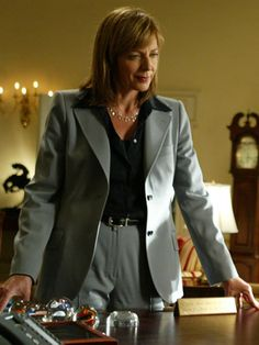 """Workwear: Allison Janney as the White House Press Secretary on """"The West Wing,"""" 2004"""