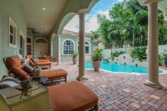 Poolside at 622 Hermitage Circle, Palm Beach Gardens, FL 33410