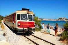 Tourist Train - Ile Rousse  Corsica FRANCE