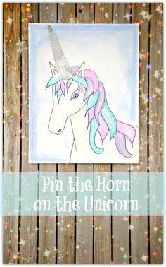 This pin the horn on the unicorn is a fun party game idea.  I did this for my daughters birthday party and the kids loved it!