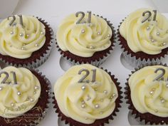 21st birthday cupcakes these look awesome