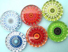 Handmade fridge magnets