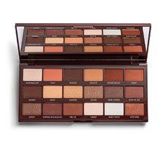 Palette Makeup Revolution, Makeup Palette, Brown Eyeshadow Palette, Makeup Revolution Eyeshadow, Make Up Guide, Paletas Chocolate, Fixing Spray, Blue Eyes Pop, Fall Makeup Looks