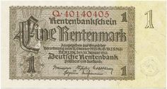 1 Rentenmark 1937,  Serie Q mit 8 Stellen