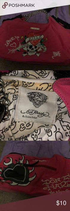 Ed Hardy Bag Gently used hand bag. Smoke free home Ed Hardy Bags Totes