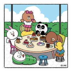 BROWN PIC is where you can find all the character GIFs, pics and free wallpapers of LINE friends. Come and meet Brown, Cony, Choco, Sally and other friends! Cute Love Pictures, Cute Love Gif, Cony Brown, Brown Bear, Bear Gif, Cute Love Cartoons, Brown Wallpaper, Line Friends, Line Illustration